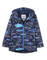 TOM JOULE Regenjacke blau allover Hai shark  98 104 110 116 122 128  NEU