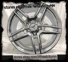 19 inch chrome Mercedes AMG OE factory replica wheels 19x8.5 19x9.5 85058 5x112