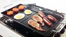 Large carbon steel Non Stick Griddle Plate BBQ & Dual Hob Grill Pan