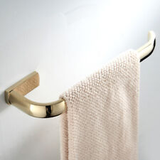 Brass Wall Mounted Bathroom Towel Rack Towel Bar Rail Holder Gold