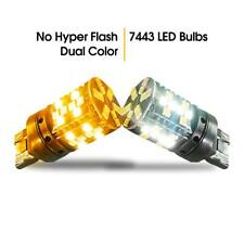 No Hyper Flash 7443 7444 Switchback LED Turn Signal Lights CANBUS SMD 3030 2PCS