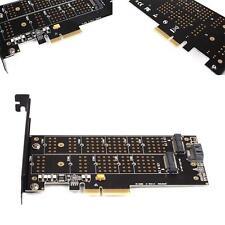 Dual Port NGFF M.2 B + M Schlüssel SSD zu PCI Express PCI-E 4X Adapterkarte