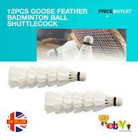 12pcs Goose Feather Badminton Ball Shuttlecock Birdies Sports Training Game UK
