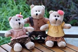 2017 Starbucks THAILAND Bearista Bear in Traditional Outfits Set of 3 -No Card