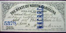 1860 's CONFEDERATE Civil War Era $30 State of N.C. CRISP Interest Note  #61  NR