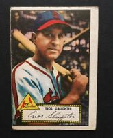 1952 Topps Baseball #65 Enos Slaughter Red Back VG Hof Cardinals