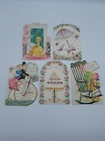 Lot Of 5 Vintage Birthday Greeting Cards Unused A Sunshine Card Made in USA