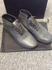 NIB $520 Alexander Wang Ash High Burned Black Size 10 Sneakers,Leather,MINT