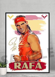 Rafael Nadal Rafa Tennis Icon A4/A3-Unframed/Framed Autograph gift#155 signed