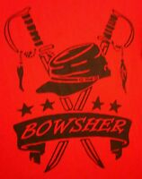 BOWSHER HIGH SCHOOL Rebels small T shirt Toledo swords Confederate logo Ohio tee