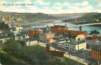 Oil City Pennsylvania~Panorama From Clark's Summit~Downtown~Bridge~1910