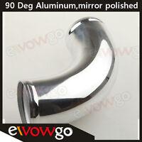 "3"" 76mm 90 Deg Turbo Intercooler Pipe Piping Aluminum Tube Tubing L=300mm"