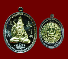 Thai Amulet Lucky  Phra TIGER HERMIT Buddha Talisman Protect Charm Real LP NUI