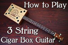 Cigar Box Guitar Lessons - How to Play 3 string Guitar DVD - Shipping worldwide