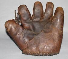 Antique Vintage 1930s JC Higgins1697 Travis Jackson split finger baseball glove