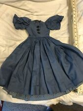 Doll Clothing- Blue Dress With Slip To Fit Larger Slim Dolls 28-30�