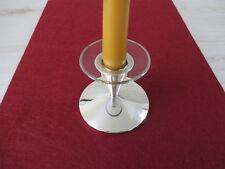 5 Stück Tropfenfänger Bobeche Standard Glas Silberrand für Kerzenständer NEU!