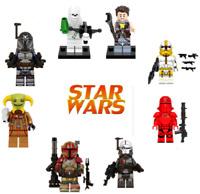 Lego New Star Wars Minifigures Mandalorian Darth Vader Yoda Death Watch Imperial