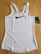 Nike Womens Pro Tank Top Dri-Fit White XL 615724 CrossFit Training Yoga Spandex