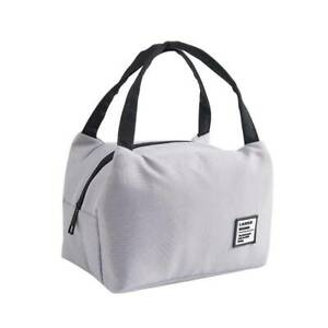 Portable Insulated Thermal Cooler Bento Picnic Lunch Box Tote Storage Pouch Bag