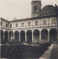 Florence San Sipito Chiostro Italia Stereo Vintage Analogica Ca 1920