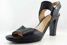 Geox Ankle Strap Black Leather Women Shoes Size 39 Medium (B, M)