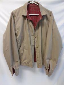 POLO Ralph Lauren Men's LRG Reversible Harrington Jacket Red/Green Tartan Plaid