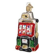 Old World Christmas SLOT MACHINE (44038)N Glass Ornament w/ OWC Box
