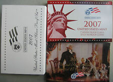 2007 United States Mint ANNUAL 14 Coin SILVER Proof Set Free Shipping in the USA