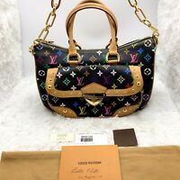 Louis Vuitton Multicolore Rita Noir Bag Black tote Shoulder purse Murakami
