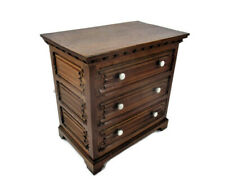 Gorgeous Chest of Drawers Oak  Nightstand End Table Cabinet Fold Panels Roses