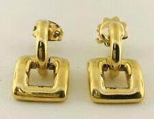 Tiffany & Co. Square Hoop Earrings in 18k Yellow Gold.