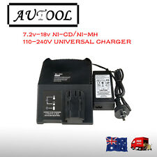 Battery Charger for AEG MILWAUKEE  ATLAS COPCO 7.2V-18V 14.4V 12V  Ni-Cd Ni-MH