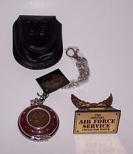 Franklin Mint Official Air Force Service Pocket Watch Nib