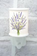 Lavender Night Light Plug-in Porcelain On/Off Switch Nightlight Electric 5042