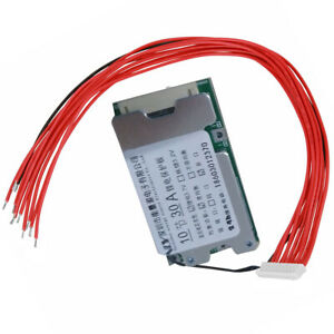 10S 30A Li-ion Cell 18650 Battery Protection BMS PCB Board Balance Function 36V