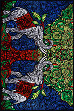 3D TAPESTRY-Good Luck ELEPHANTS-BEAUTIFUL-FREE 3D GLASSES-60X90 Tree of Life