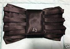 Lulu Guinness Black Satin Clutch / Evening Bag - Like New, Used Once