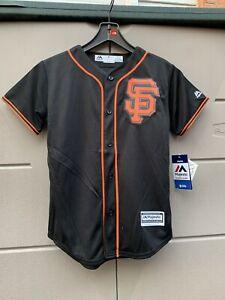 Youth San Francisco Giants Majestic Black Cool Base Team Jersey Size M(10-12)
