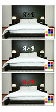 Initials Wall Art, Decal, Personalised Wall Art Initials - Bedroom Wall Stickers