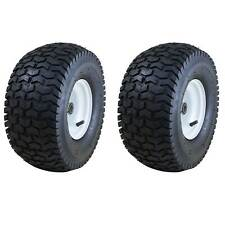 Marathon 15 x 6.50 6 Inch Pneumatic Tire for Heavy Riding Lawn Mowers (2 Pack)