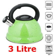 GREEN Marble-Whistling Kettle 3 L Stainless Steel INDUCTION / GAS / STOVE TOP