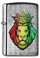 ZIPPO Feuerzeug RASTA LION HEAD Linen Weave Löwenkopf NEU OVP Sammlerstück!!
