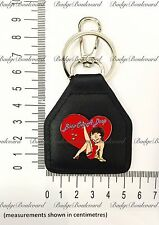 Betty Boop Hearts Leather Keyring Key Chain Fob