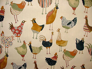 Prestigious Textiles Harriet Hens Fresh Cotton Curtain Blinds Upholstery Fabric