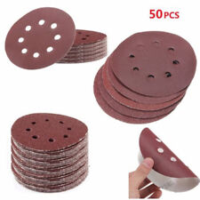 50X 125mm Sanding Disc 40 60 80 120 240 Grit 8 Hole Sander Pads Sand Paper Wheel