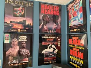 Boxing Poster Collection - 12 Dry Mounted and in Frames
