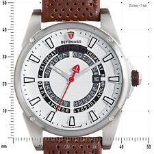 DETOMASO BUSINESS PUNK DT-YG105-D Mens Watch Stainl.steel/Black Day&Date New