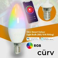 Smart Light Bulb E14 RGB Dimmable Wifi App Control Amazon Alexa/Google Home UK