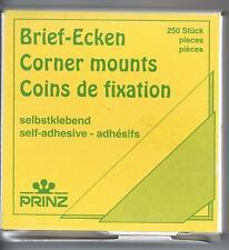 Prinz Transparent Self-Adhesive Corner Mounts Dispenser Box of 250